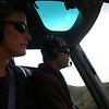 Kim in the co-pilot seat