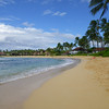 Poipu Beach, view looking west in front of Koa Kea.