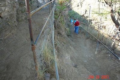 A mountain goat could stumble on this narrow path.