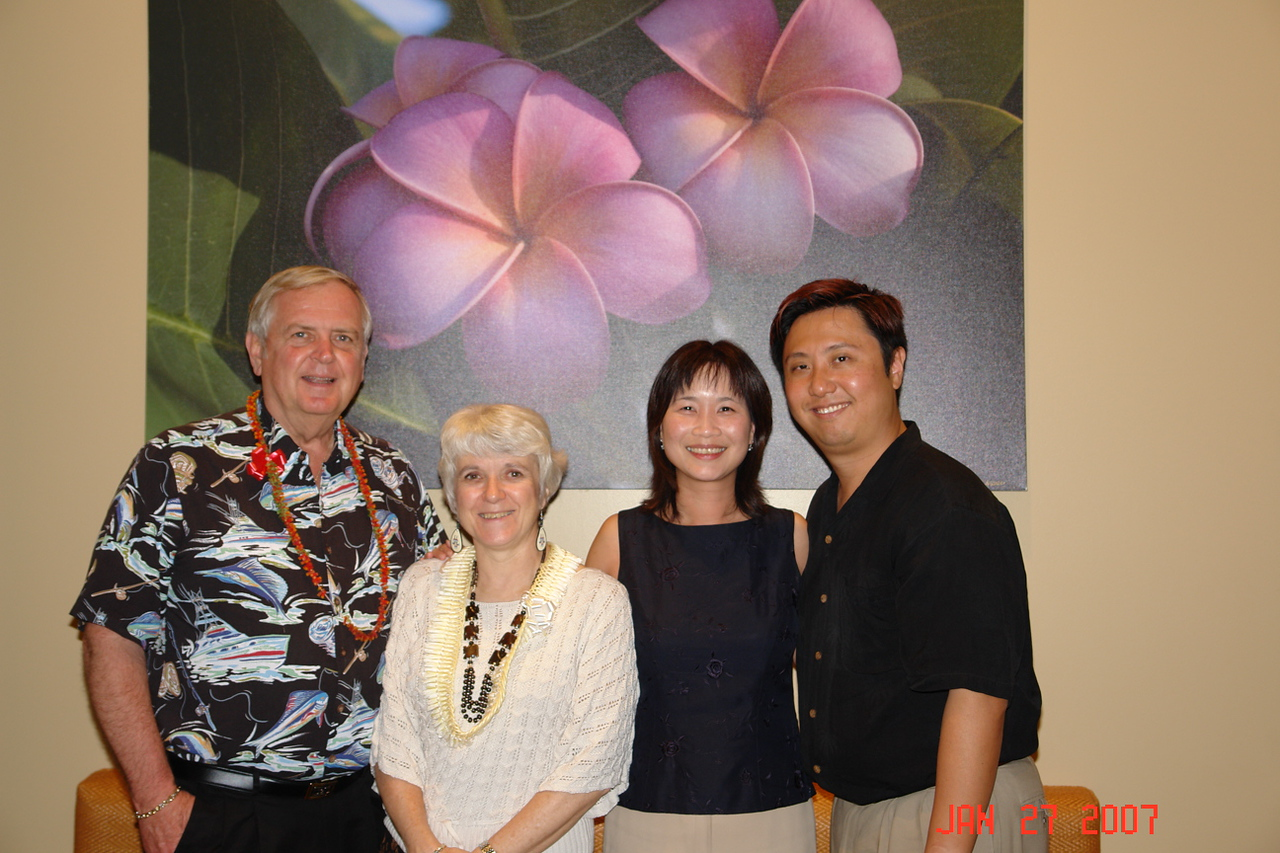 Ray, Penny, Amanda & Masaki.  The end of a wonderful day and evening.  Such hospitality!!