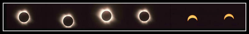Just prior to the full eclipse and then during it.