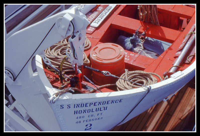 Life boat. We had drills.
