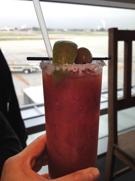 A bloody mary while we wait for our plane? Don't mind if I do!