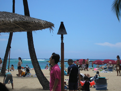 We arrived on Beautiful Waikiki Beach on Saturday, August 25th