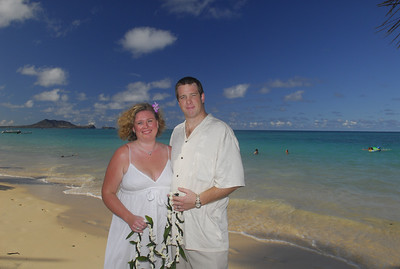August 26th, 2007, Jason and I renew our vows on Lanikai beach