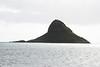 View of Chanaman's Hat From Kualoa Regional Park and is really named Mokolii.  It's a sacred puu honau, or place of refuge
