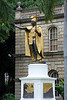The Kamehameha Statue stands prominently in front of Ali'iolani Hale in Honolulu, Hawaii. The statue had its origins in 1878 when Walter M. Gibson, a member of the Hawaiian government at the time, wanted to commemorate the 100 year discovery of Hawaii by Captain Cook. The legislature appropriated $10,000 for the project and made Gibson the director of the project, which originally included native Hawaiians but they soon were off the project and Gibson ran the project by himself. Gibson contacted Thomas R. Gould a Boston sculptor living abroad in Florence, Italy to create the statue.