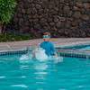 Aaron swimming at the Villages Pool on the night we arrived in the Big Island.