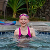 Hannah swimming at the Villages Pool on the night we arrived in the Big Island.