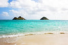 Mokulua Islands Seen From Lanikai Beach