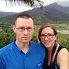 Honeymoon, Day 1: In which we travel to Kauai, and acquaint ourselves with the island. At the Hanalei Valley Lookout.