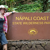 Hiking the parts of the Kalalau Trail you don't need permits for on the north shore of Kauai.  From the trailhead to the beach, to the waterfall and back, 8 miles and not enough water.