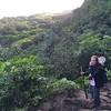 Chris's Phone: Hiking the Kalalau Trail.