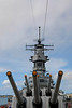 """USS Missouri (BB-63) (""""Mighty Mo"""" or """"Big Mo"""") is a United States Navy Iowa-class battleship, and was the fourth ship of the U.S. Navy to be named in honor of the U.S. state of Missouri. Missouri was the last battleship built by the United States, and was the site of the surrender of the Empire of Japan which ended World War II."""