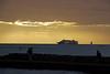 Dinner Cruise Ship Waiting for Sunset
