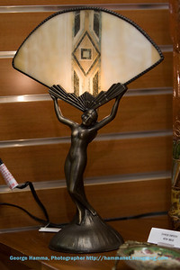An attractive art deco lamp.