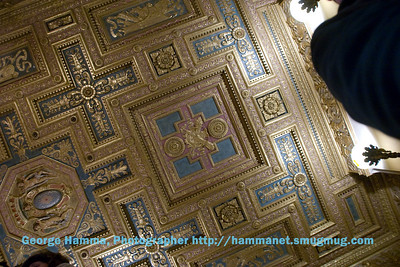 The ceilings in the rooms throughout Hearst Castle are interesting and attractive.
