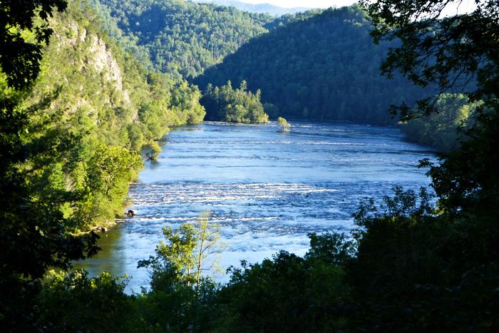 The very lovely Hiwassee River near Benton TN