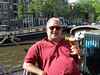 "An excellent Dutch beer along the Prinsengracht (""Princes' Canal"") our first day in Amsterdam."