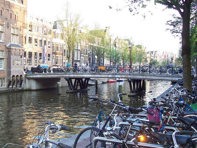 A beautiful canal view in Amsterdam.