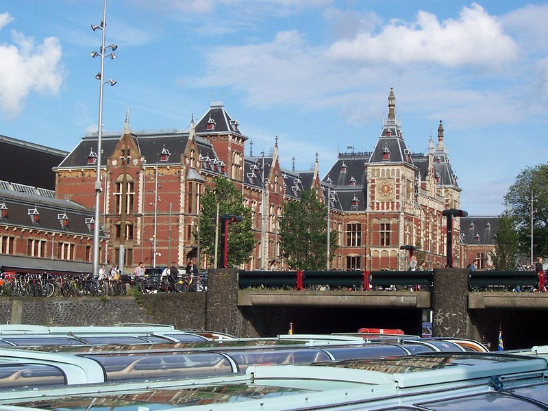 Centraal Station: The main train station in Amsterdam.