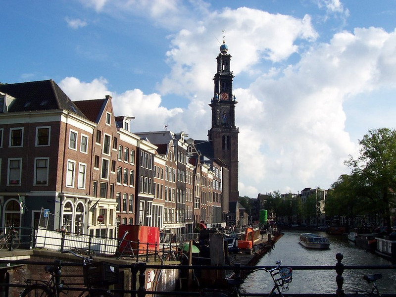 One of the many beautiful canal views in Amsterdam.