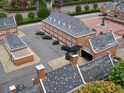 """Madurodam: a theme park with miniature models of famous places throughout Holland. A """"giant"""" bird is attacking the army base!"""