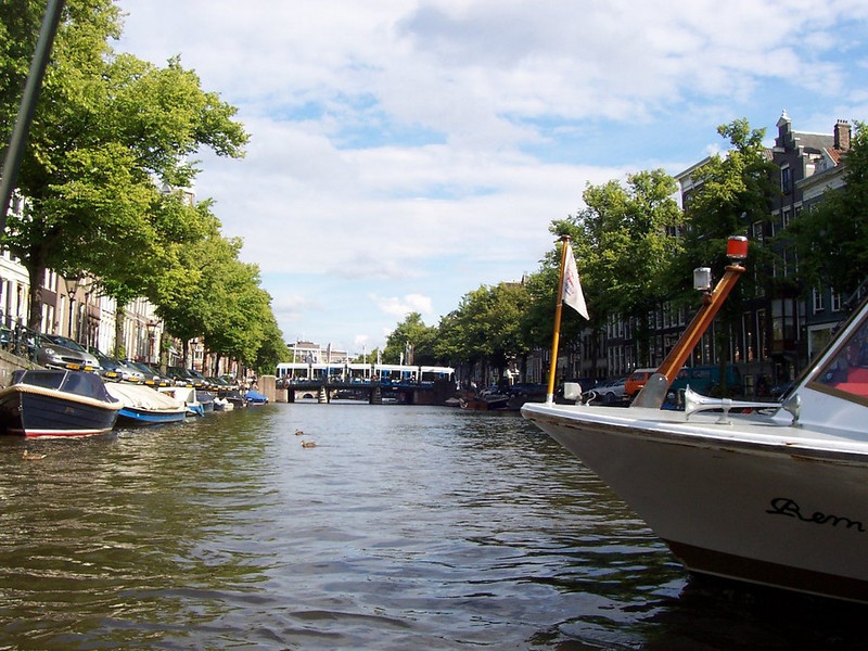 View from the canal in Amsterdam.