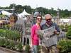 Madurodam: a theme park with miniature models of famous places throughout Holland. Our newspaper uses photos of travellers reading the local paper in faraway places to promote the paper. We took this photo to submit for that purpose.