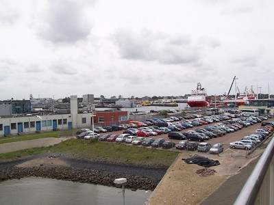 Harbor on the Den Helder side of the ferry to the island Texel.