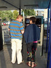 Paying the parking machine in Ede.