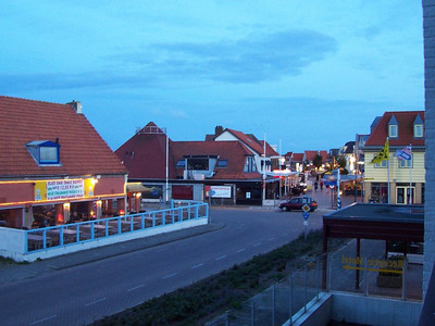 """The view of the village """"de Koog"""" from our hotel balcony on Texel. This is how much light shines at 10:30PM when you are this far north in summer!"""