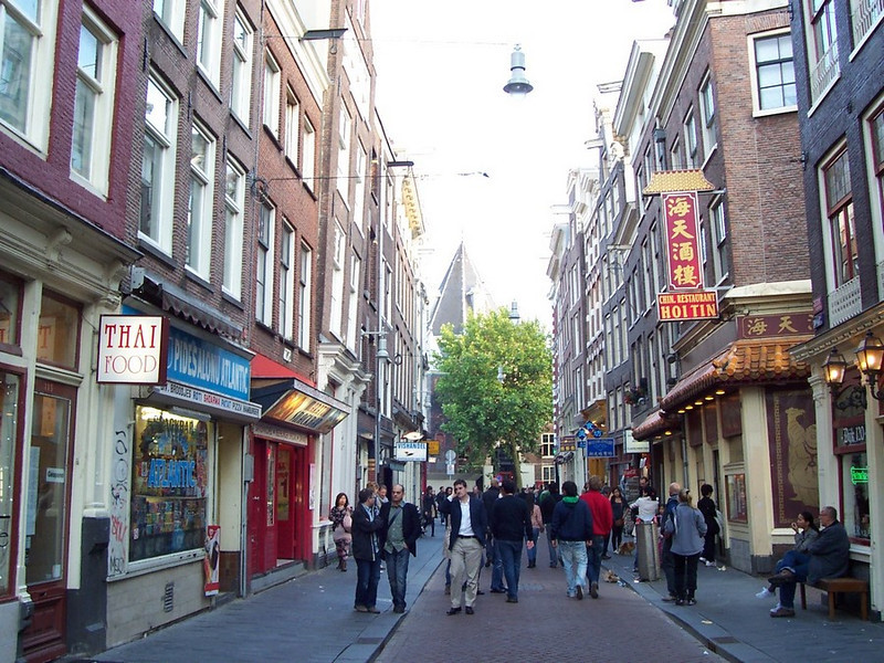 Walking in Amsterdam.