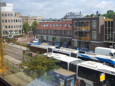 Dutch village as seen from the train.