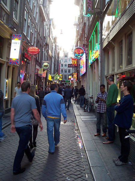 Walking in Amsterdam.