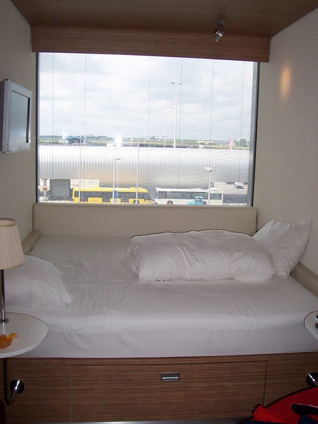 Our room at our super trendy hotel at Schiphol (the Amsterdam airport) looks out over the runway.