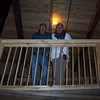 Caroline's parents inside Noah's Ark.
