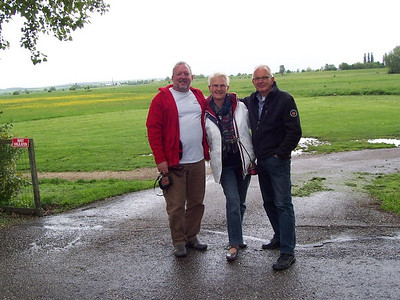 Chris with Caroline's parents after a big meal of Dutch pancakes!