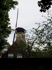 A windmill in the small, old, Dutch town of Buren.