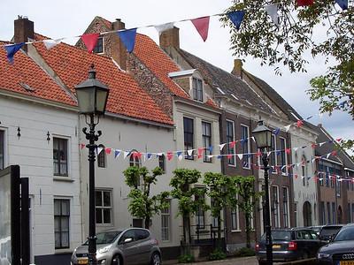 Row houses in the old, Dutch town of Buren.