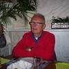 Caroline's dad at a Greek restaurant in Holland.