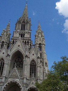 A beautiful cathedral in Brussels.