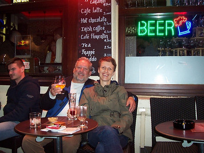 Delicious Belgian beer at a terrace near the Grand Plaza in Brussels.