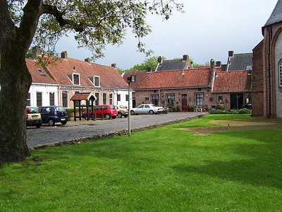 A square outside the main church in the small, old, Dutch town of Buren.