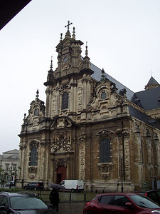 A cathedral near our hotel in Brussels.