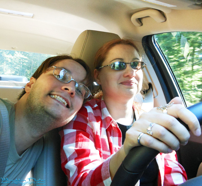 Jim and I in the Car