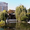 the tranquil garden is in the middle of the city