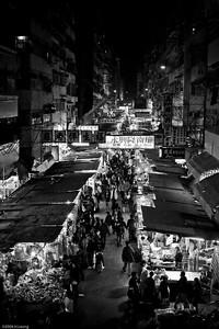Street market in Hong Kong