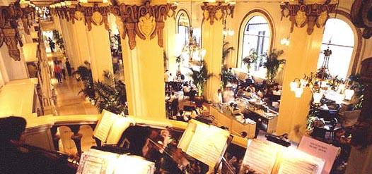 The lobby of the Peninsula Hotel