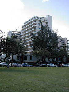 """The """"W"""" Hotel at Diamond Head was our hotel with our room and balcony the 3rd one down on the end."""
